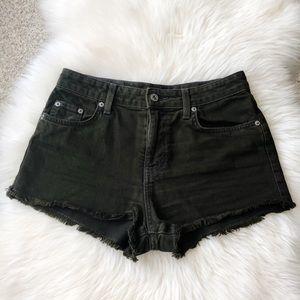 Carmar Olive Green Cut Off Denim Jean Shorts 25